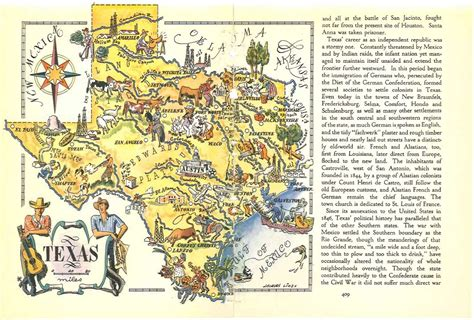 texas map prints texas map decor vintage map print state map travel
