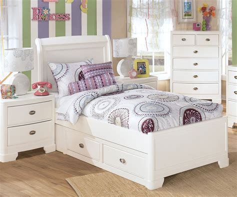 white twin beds for girls ashley furniture alyn twin size platform storage bed girls