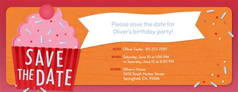 save the date birthday card template invitations free ecards and planning ideas from evite