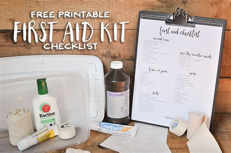 printable free will kit free printable first aid kit checklist our handcrafted life