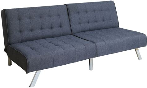 blue futon arielle dark blue futon sofa cm2431bl furniture of america