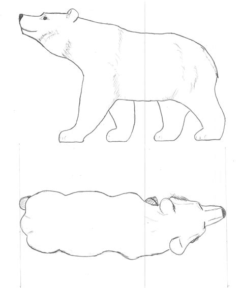 bear pattern outline whittling projects pinterest