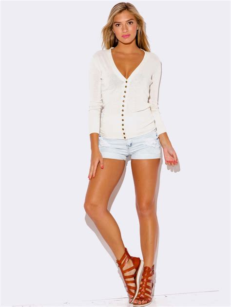 white cardigan sweater modishonlinecom