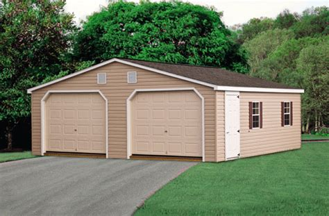 2 Door Garage by Storage Sheds Playsets Arbors Gazebos And More