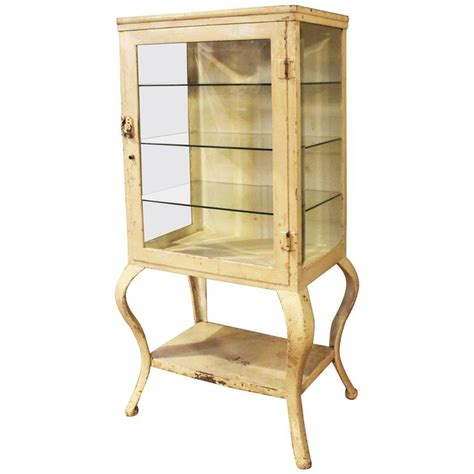 vintage bathroom storage cabinets antique metal and glass apothecary storage