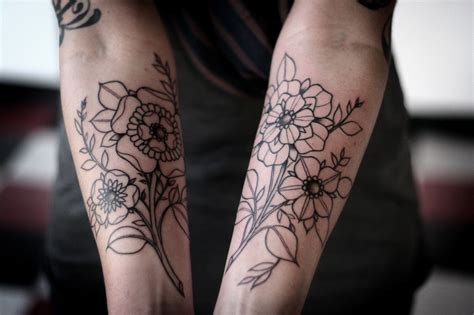 forearm flower tattoo flowers forearm inkedcollector