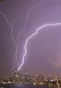 lighting sydney the storms from hell lightning strikes 20cm of