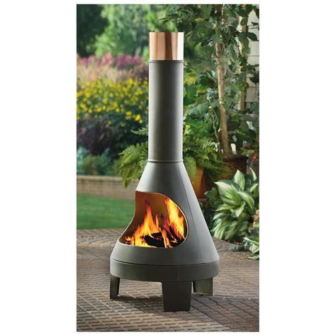 castlecreek chiminea 232290 pits patio heaters