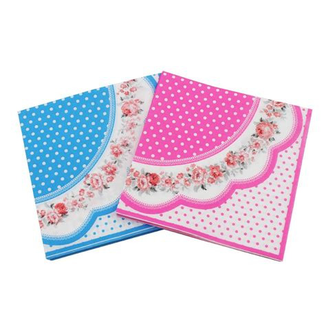 printed tissue paper for decoupage rainloong printed feature flower paper napkin event