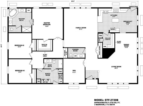 cavco floor plans sante fe 2720b homes direct