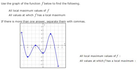 How To Find Local On Use The Graph Of The Function F Below To Find The