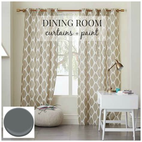 modern curtains for dining room dining room design curtains paint city farmhouse