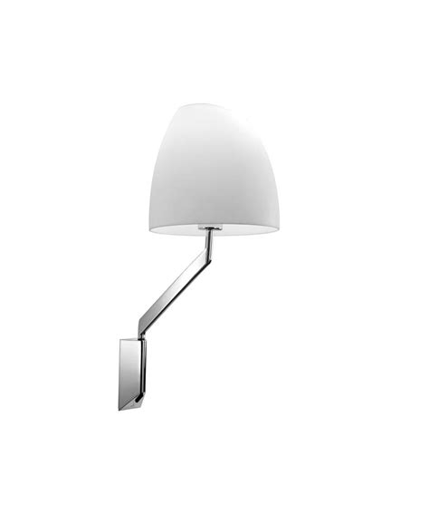 chrome swing arm wall l modish chrome swing arm wall light with polycarbonate shade