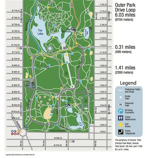 central map central park running map
