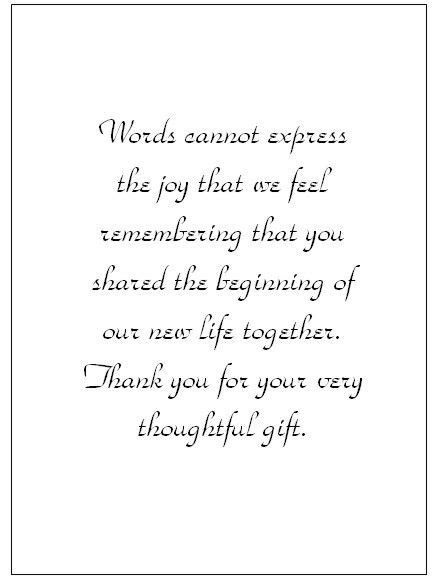 appreciation letter after a wedding wedding thank you note wording thank you card templates