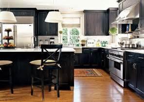 Black kitchen design country home