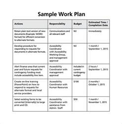 what is a work plan template work plan template 12 free documents for word