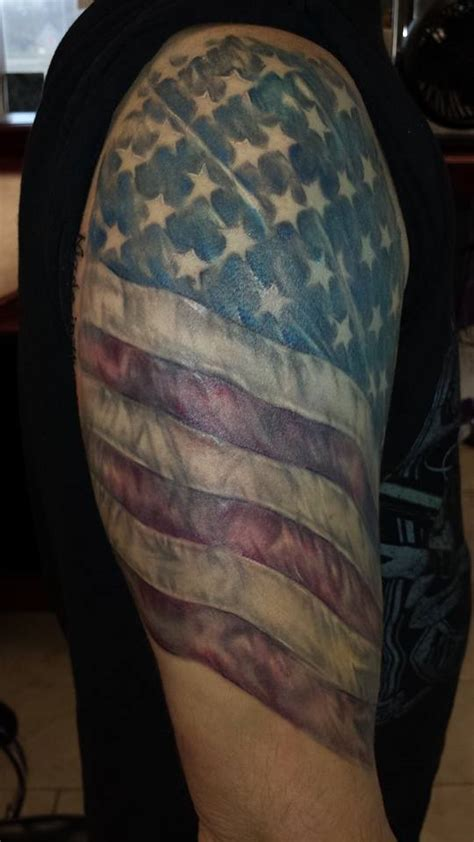 arm tattoo american flag american flag tattoo tattoos by morganjc military