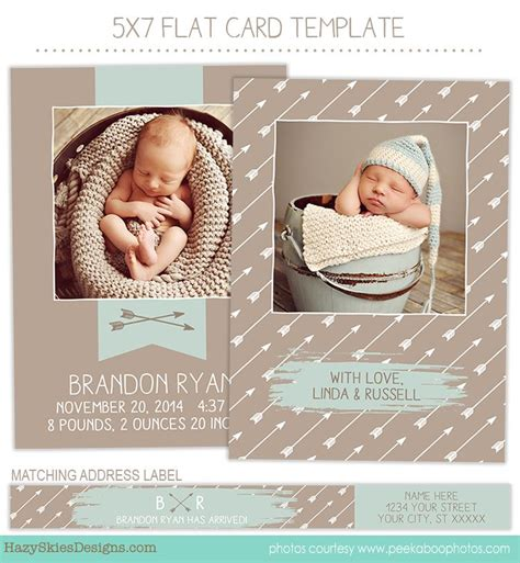 birth announcement template birth announcement template banner and arrow