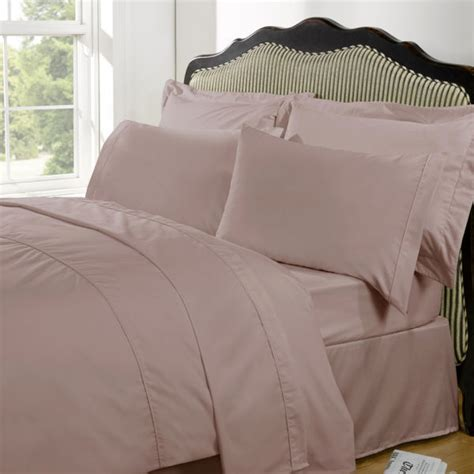 Duvecover Set 200x200 Kingkoil Cotton 4 highams 100 cotton plain dyed duvet cover and pillowcases vintage pink iwoot