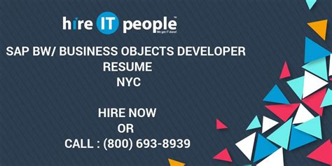 sap bw business objects developer resume nyc hire it we get it done