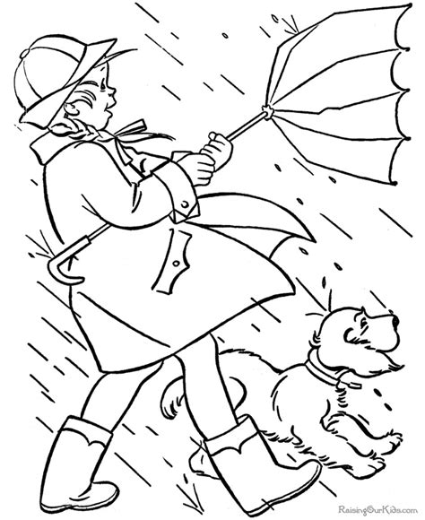 coloring page rainy day rainy day coloring pages for kids az coloring pages