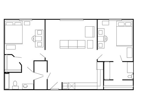 floor plan for 2 bedroom flat two bedroom apartment plan