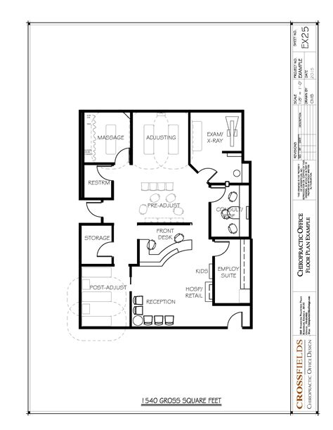 chiropractic office floor plans pinteres