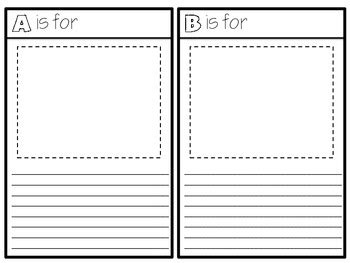 Abc Book Project Template Intermediate Abc Book Project Template By Sarah Tighe Tpt