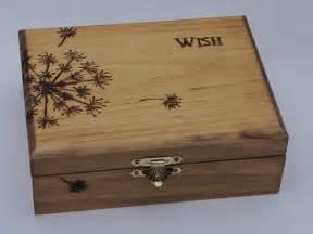 wood burned keepsake box