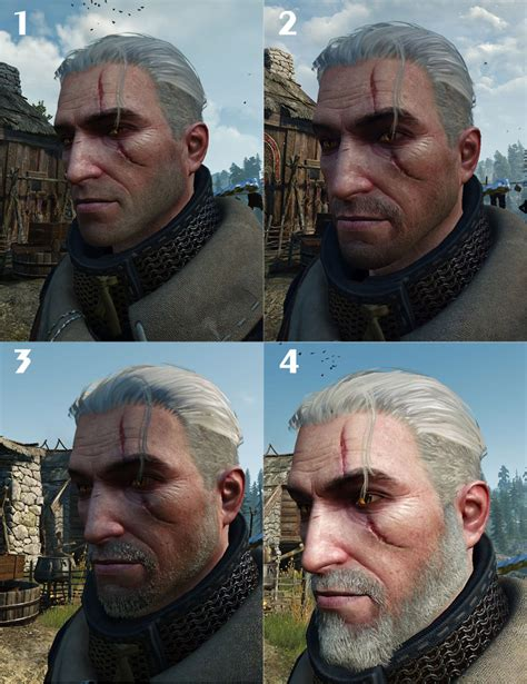 beard and hairstyles witcher geralt s beard grows over time gaming gix