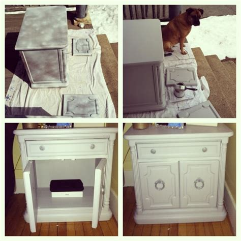 old furniture makeover sidetable for the home pinterest