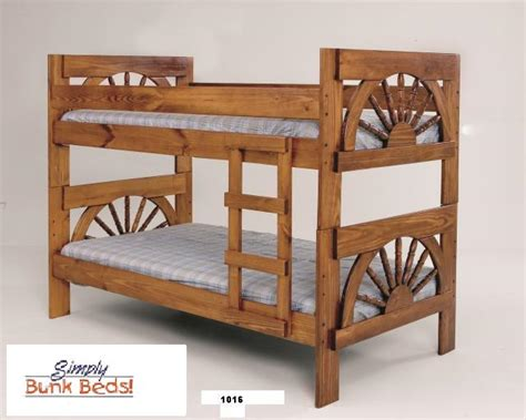 Wagon Wheel Bunk Bed Wagon Wheel Wood Bunk Bed Houston Mattress King