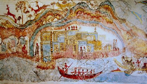Outdoor Wall Mural Stencils file ship procession fresco part 1 akrotiri greece jpg