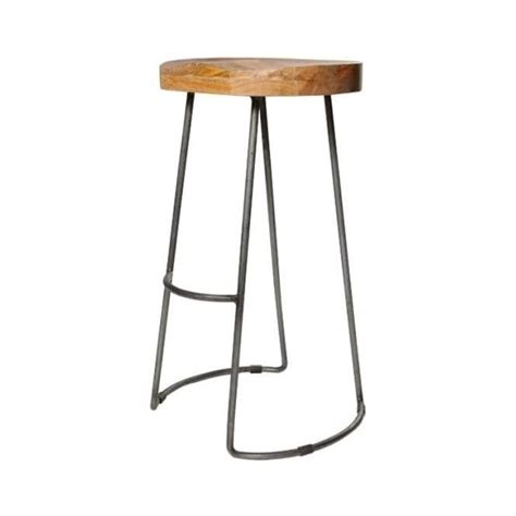 wood and metal stool uk buy solid wood metal warehouse style bar stool from