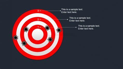 bullseye chart template editable bullseye target shapes for powerpoint slidemodel
