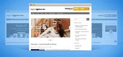 themeforest affiliate theme digital affiliate box wordpress theme for envatomarket
