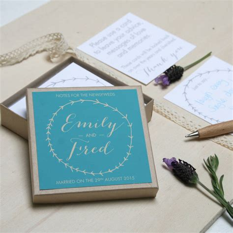 Wedding Box Message by Personalised Wedding Guest Message Box By Modo Creative