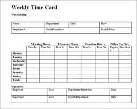 Timecard Template Excel by 15 Time Card Calculator Templates