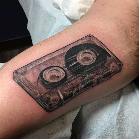 cassette tape tattoo by nic lebrun tattoos