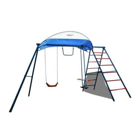 ironkids challenge 100 metal swing set 8010 the home depot
