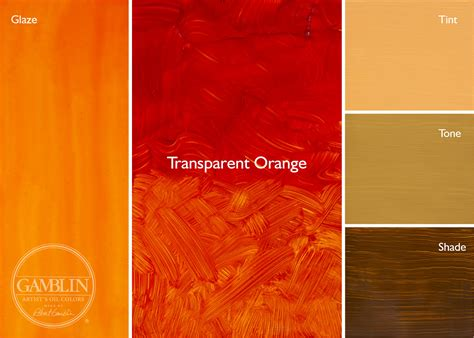 how to make color orange transparent glaze palette gamblin artists colors