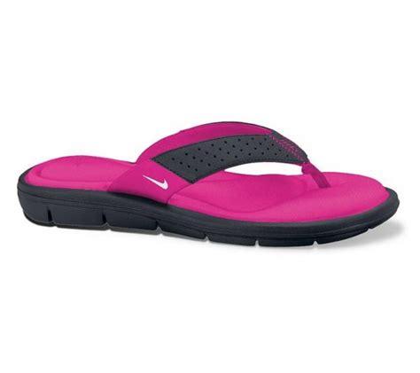 nike memory foam sandals nike comfort flip flop pink black white sandals