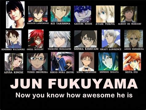 Anime Voice Actors by Jun Fukuyama Liberta Arcana Famiglia Lelouch