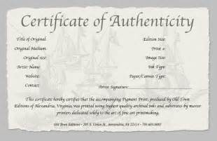 photography certificate of authenticity template certificate of authenticity of a print