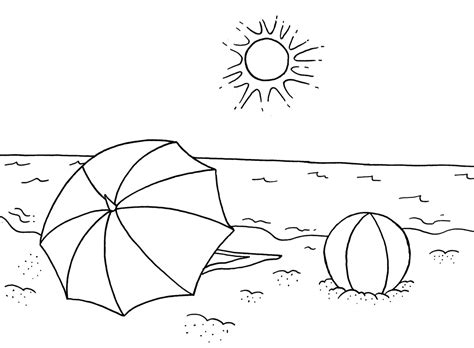 summer coloring page pdf free summer coloring pages for kindergarten coloring