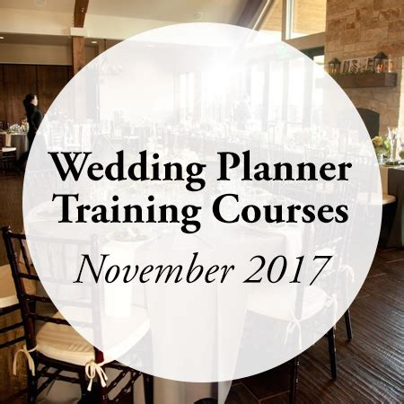 wedding planner courses november 2017 aacwp
