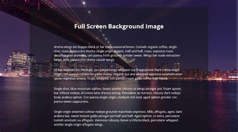 html css layout full screen full screen background image with css super dev resources