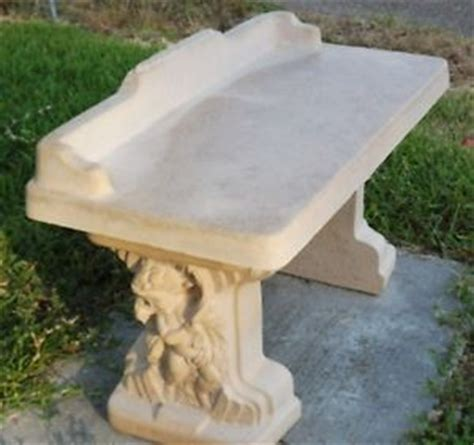 cement bench mold concrete cement mold cherub bench top 1 leg ebay