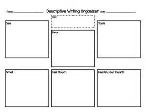 descriptive writing organizer 5 senses writing graphic